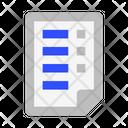 File Document List Icon