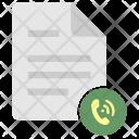 Call List Listing Icon