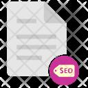 Seo Keywords Doc Icon