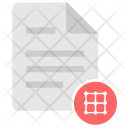 Grid Matrix Coordinates Icon