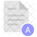 A Letter Glossary Icon