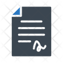 File Contract Document Icon