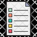 File List Document Icon