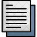 File Notes Text Sheet Icon
