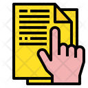 File Document Hand Icon