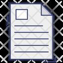 File Text Sheet Icon
