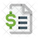 File Financial Statements Money Icon