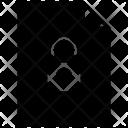 File Lock Unsafe Icon