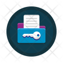 File Access Document Encryption Icon