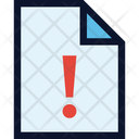 File Document Warning Icon