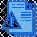 File Alert File Warning File Icon