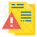 File Alert File Warning File Icon
