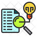 File Analysis Idea Icon