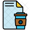 File And Cup Icon