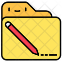 File And Folder Document Pencil Icon