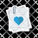 File Attachment Love Icon