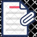 Paper Clip File Attachment Attach Document Icon