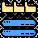 File Backup Big Data Online Icon