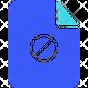 File Block File Error Block Icon