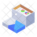 File Box File Cardboard Analytic Report Icon