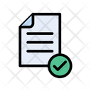 File Checked Document Icon