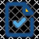 File Checklist Verify Document Check File Icon