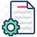 File Configuration File Management Document Settings Icon