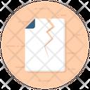 File Crack Crack Extension Crack Document Icon