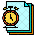 Stop Wacth Files Paper Icon