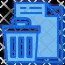 File Delete File Remove Trash Bin Icon