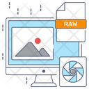 Raw Raw File File Format Icon