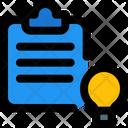 File Idea Clipboard Document Icon