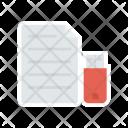 File in pendrive Icon