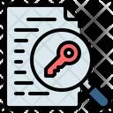 Keyword Keywording Search Icon