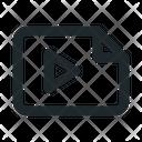Landscape Video File Icon
