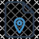 File Location Pin Icon