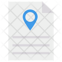 File Location Map Sheet Icon