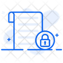File Lock Secure File Document Security Icon
