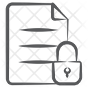 File Lock Document Lock Private Document Icon