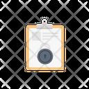Clipboard File Lock Icon