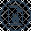 File Lock Document Icon