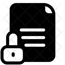 File Lock Page Icon