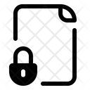 File Format Lock Icon