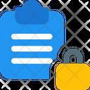 File Lock Clipboard Lock Lock Icon
