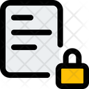 File Lock Lock File Security Icon
