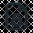 Locked File Document Icon