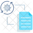 File Processingv File Processing File Management Icon