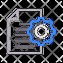File Document Setting Icon