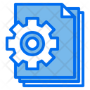 Gear Files Document Icon
