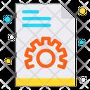 Document File Gear Icon
